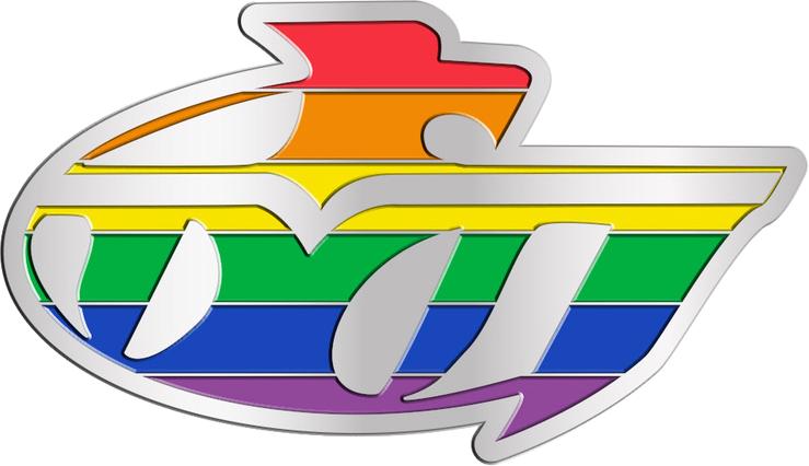 Highline College LGBTQIA Lapel Pin Rainbow Colors